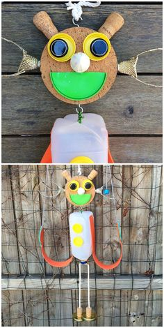 Make a DIY Recycled Marionette Puppet. Such a fun recycled craft for kids!