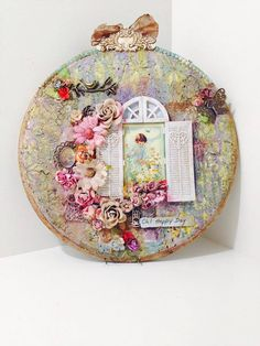 Hello friends!  Today I would like to share my altered embroidery hoop with you. I have had this idea for a while and finally got to bring ...