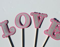 Wedding Photo Booth Props  LOVE on individual by PAPERandPANCAKES, $15.00