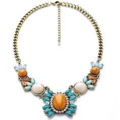 2014 New Bohemia Vintage Flower Choker Statement Necklace For Women Factory Wholesale
