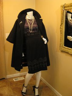 Very Rare Vintage MINT ANGORA MOHAIR 50s Lilli Ann Black Swing Wrap Coat w/ Coat Candy Stripe Lining  X-Large 14 16. $499.24, via Etsy.