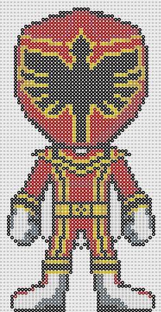 Power Ranger perler bead pattern by Sebastien Herpin