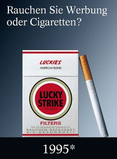 Rauchen Sie Werbung oder Cigaretten? Lucky Strike Plakat-Werbung 2005 | Flickr - Fotosharing! British American Tobacco, Vintage Advertisements, Ads, Storytelling, Advertising, Photo And Video, Chesterfield, Camel, Smoking