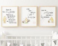 Winnie The Pooh Nursery, Winne The Pooh, Winnie The Pooh Quotes, Nursery Artwork, Nursery Prints, Nursery Decor, Nursery Ideas, Room Decor, Nursery Pictures