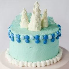Frozen-Inspired Birthday Cake