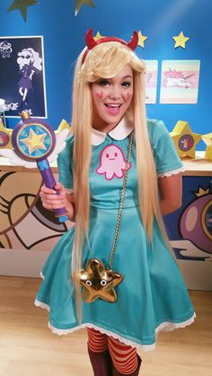 """nihilistique: """"I had the pleasure of working on two Star Vs the Forces of Evil commercials for Disney recently, starring Olivia Holt and Kelli Berglund, and they're finally up! I custom made the Star costume specifically for Olivia for these spots. Cute Cosplay, Amazing Cosplay, Cosplay Outfits, Best Cosplay, Cosplay Girls, Cosplay Costumes, Casual Cosplay, Group Costumes, Star Costume"""