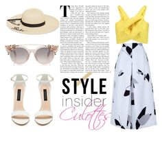 """""""Culottes"""" by luxthrill ❤ liked on Polyvore featuring TIBI, Delpozo, Betsey Johnson, womensFashion and culottes"""