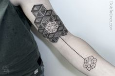 Beautiful, Minimalistic Geometric Tattoos Made With Dots And Lines - DesignTAXI.com