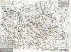 Domenico Zenoi: Az 1566. évi magyarországi hadjáratok térképe. Velence, 1567., réznyomat. Nagy Szulejmán utolsó hadjárata.