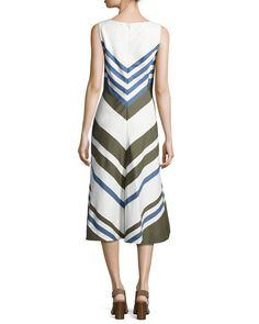 Mallorie Marvelous Twill Dress, Orion Blue/Cirus