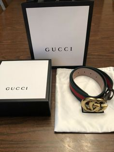 0acc30cf3a4 Red Green Double Gold G Buckle Gucci Belt 42 105cm (Size 36-