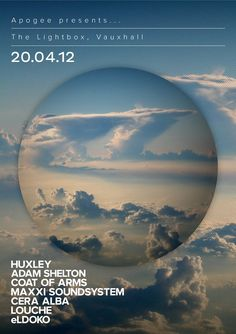 #Apogee    Apogee presents Launch with Huxley, Adam Shelton, Coat Of Arms (Inc. Eats Everything), Maxxi Soundsystem, Cera Alba, Eldoko + Louche @ Lightbox    #housemusic #house