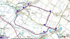 Map route for walk at White Mill and Shapwick, Kingston Lacy 4 mile moderate walk