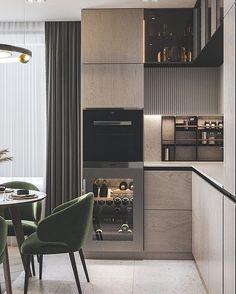 Kitchen Island Decor, Kitchen Room Design, Kitchen Units, Kitchen Cabinet Design, Modern Kitchen Design, Living Room Kitchen, Home Decor Kitchen, Interior Design Kitchen, Modern Interior