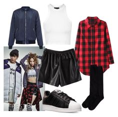 """""""Heize (Unpretty Rapstar Vol. 2) The Star - No. 1 Star & Style Magazine with Jun Hyung (BaeST)"""" by catezovi ❤ liked on Polyvore featuring WithChic, Topshop, New Look, Shimera and adidas"""