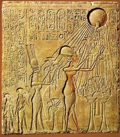 Nefertiti was the Great Royal Wife of the Egyptian Pharaoh Akhenaten. Nefertiti and her husband were known for a religious revolution, in which they worshiped one god only, Aten, or the sun disc