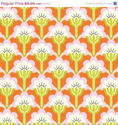 On Sale - Pop Blossom Persimmon  (PWTC015) - Heather Bailey TRUE COLORS - Free Spirit Fabric  - 1 Yard by MoonaFabrics on Etsy https://www.etsy.com/listing/184635186/on-sale-pop-blossom-persimmon-pwtc015
