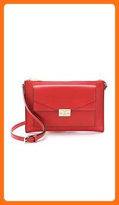 Tory Burch T-Lock Mini Crossbody (Masaai Red) - Crossbody bags (*Amazon Partner-Link)