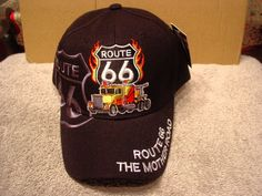 ROUTE 66 AND TRUCK THE MOTHER ROAD BASEBALL CAP ( BLACK )