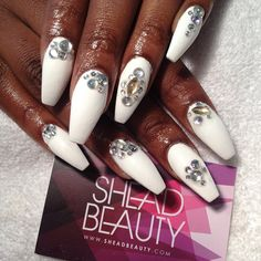 French fade with nude and white ombre acrylic nails coffin nails 068 Sexy Nail Art, Sexy Nails, Dope Nails, Fun Nails, White Coffin Nails, Coffin Shape Nails, Rhinestone Nails, Bling Nails, Stiletto Nails