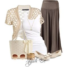 Love a long skirt:-) Stylish Eve Fall Fashion Guide: How to Look Fabulous in Brown