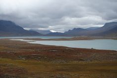Fairy tale like landscape, even when the weather is less than ideal. Kungsleden.