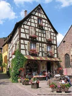 Fachwerk - half timbered house - Germany Around The World In 80 Days, Around The Worlds, Bad Wimpfen, Interior Design And Technology, Beautiful World, Beautiful Places, Wattle And Daub, German Houses, Fancy Houses