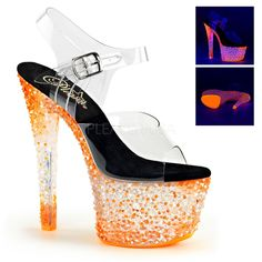 CRYSTALIZE-308PS Pleaser Sexy Shoes 7 Inch Spike Heel Platforms Sandals