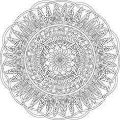 Digital Mandala Art Coloring Page (Printable PDF) - Serenity - Adult Abstract…