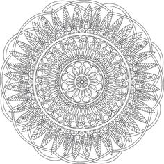 Serenity Mandala Adult Coloring Page by MerakiColoringDesign