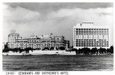 Semiramis and Shepheard's Hotel, Cairo Egypt
