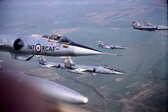 army CF-104 Starfighter's over France in 1964