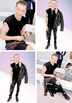 Jamie Campbell Bower attends the Hunter Original SS 2015 catwalk show at on September 13, 2014 in London, England.
