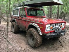 red ford bronco mudder