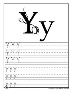 Learning ABC's Worksheets Learn Letter Y – Classroom Jr.