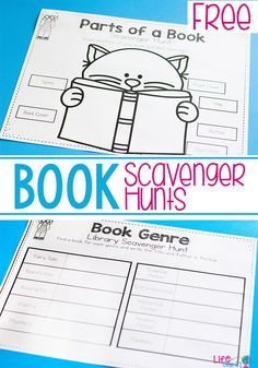 These book scavenger hunts are a great way to learn about the parts of a book and book genres. Kids will love searching through their favorite books!