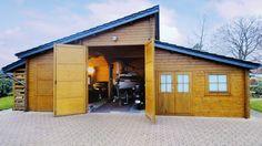 Doppelgarage mit werkstatt  XL-Holzgarage - Großzügige Raumaufteilung mit angrenzendem ...