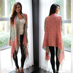 CASUAL CHIC! Our Gray And Neon Pink Cardigan is a flawless combo of comfort and effortless style  - it's simply wonderful for everyday wear. This look is super easy to wear and cozy which makes it great to wear during all seasons. Definitely a MUST HAVE piece for your 2015 wardrobe! See other lovely cardigans at our online boutique!