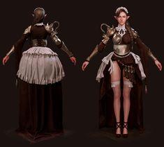 Maid Knight, Yeon-u Jang 3d Character, Maid, Knight, Concept Art, Artwork, Fictional Characters, Fantasy Women, Conceptual Art, Work Of Art
