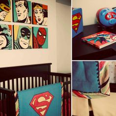A Retro Superhero Nursery!!! Um yea totally going to be Alekzanders room.