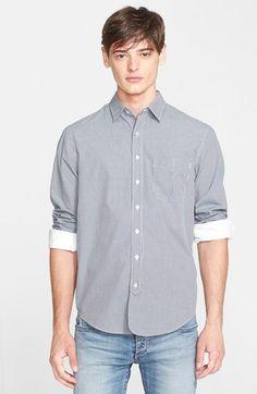 Men's rag & bone Trim Fit Micro-Gingham Sport Shirt
