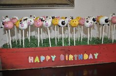 Cake pops I made for my nephew's first birthday