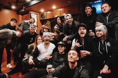 Great hangs with double decker seating on the bus for fight night with the @swstheband camp and more! #sws #backtothefutureheartstour #sleepingwithsirens #bttfht #grizzleemartin