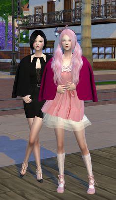Short female shoulder coat at Happy Life Sims • Sims 4 Updates
