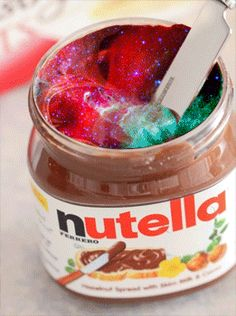 Whole universe is ni one nutella box. In other words the nutella is itself whole universe 🌏 Cute Food, Yummy Food, Nutella Snacks, Weird Food, Jolie Photo, Chocolate Coffee, Dessert Recipes, Desserts, Dessert Food