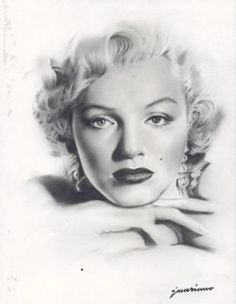**BEAUTIFUL CHARCOAL DRAWING OF MARILYN MONROE** Google Image Result for http://www.learn-to-draw-lessons.com/images/charcoal-drawing-of-marilyn-monroe-21247626.jpg