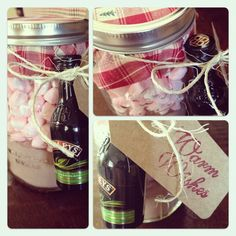 DIY Holiday Gifts: Hot Cocoa + Baileys = Bliss #christmas #gifts #DIY