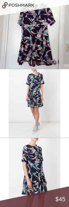 MSGM crocodile short dress Brand new. Ware only once! Super cute! MSGM Dresses Mini