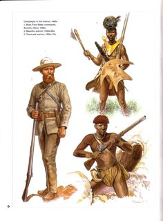 Campaign in the State Commando,Basotho African Tribes, African Diaspora, African Culture, African History, Military Art, Military History, Military Uniforms, Jungle Cruise Disneyland, Age Of Empires