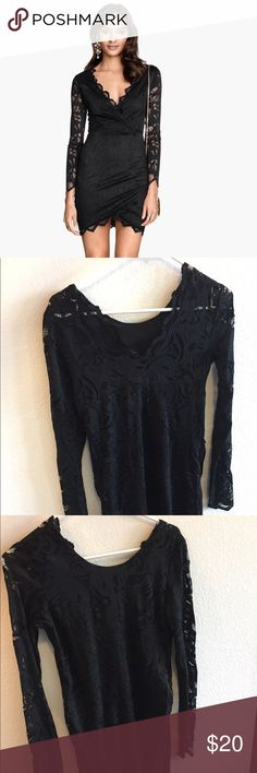 H&M Black Lace Dress Never worn. Beautiful black lace dress. H&M Dresses Long Sleeve